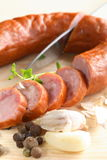 сосиска перца ножа стоковая фотография rf