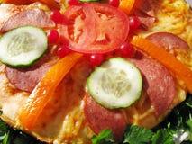 сосиска пиццы Стоковое Фото