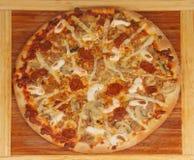 сосиска пиццы Стоковая Фотография