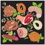 сосиска продуктов Стоковые Изображения
