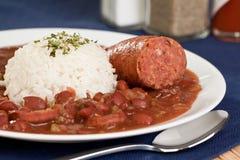 сосиска риса фасолей красная Стоковая Фотография RF