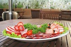 сосиска салата ветчины Стоковое Изображение RF