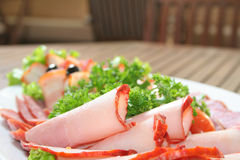сосиска салата ветчины Стоковая Фотография