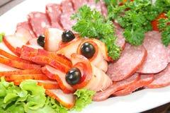 сосиска салата ветчины стоковые фото
