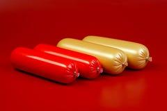 сосиска сваренная коричневым цветом Стоковое Изображение RF