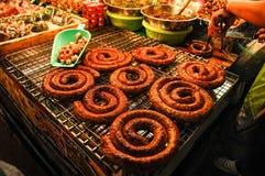 сосиска тайская стоковая фотография