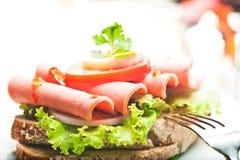 сосиска хлеба коричневая Стоковая Фотография