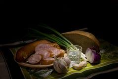 сосиска хлеба Стоковое Изображение