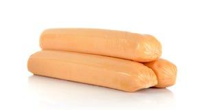 Сосиска цыпленка изолированная на белой предпосылке стоковое изображение