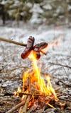 сосиски пожара Стоковое Изображение RF
