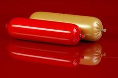 сосиски сваренные коричневым цветом Стоковая Фотография