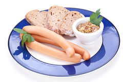 Сосиски Frankfurters или сосиски Стоковое Фото