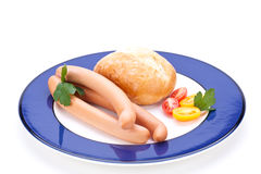 Сосиски Frankfurters или сосиски Стоковое Изображение