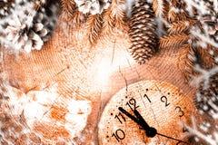 Сосна рождественской елки Нового Года елевая деревянная Стоковые Фотографии RF