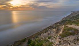 Сосны Torrey, пляж Сан-Диего, Калифорния Стоковая Фотография RF