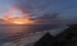 Сосны Torrey, пляж Сан-Диего, Калифорния Стоковое Фото