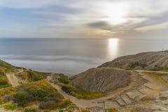 Сосны Torrey, пляж Сан-Диего, Калифорния стоковое фото rf