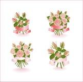 4 состава роз. иллюстрация штока