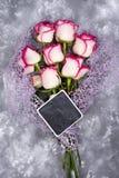 Составленный роз и доски Стоковая Фотография RF