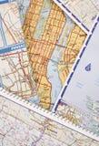 составляет карту дорога Стоковые Фотографии RF