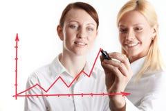 составляет схему финансовохозяйственному Стоковое Фото