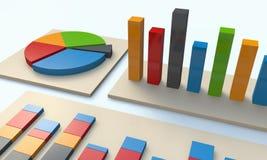 составляет схему финансовохозяйственным диаграммам Стоковая Фотография