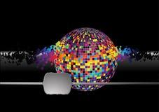 составляя звук нот глобуса Стоковое Фото