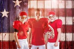 Составное изображение американской футбольной команды Стоковое Изображение