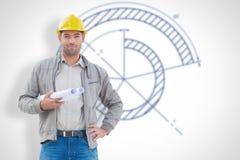 Составное изображение архитектора смотря камеру Стоковое фото RF