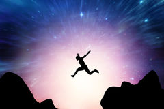 Составное изображение атлетической женщины бежать на белой предпосылке бесплатная иллюстрация