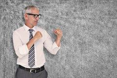 Составное изображение бизнесмена бокса Стоковые Фотографии RF