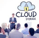Составное изображение бизнесмена делая речь во время встречи Стоковые Фотографии RF