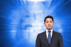 Составное изображение бизнесмена смотря камеру Стоковое Фото