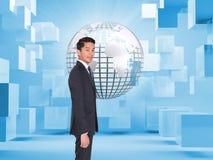 Составное изображение бизнесмена смотря камеру Стоковое фото RF