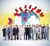 Составное изображение бизнесменов стоя вверх Стоковое фото RF