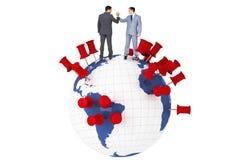 Составное изображение бизнесменов тряся руки Стоковые Изображения RF