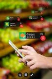 Составное изображение бирки цены на продукты питания Стоковые Изображения RF