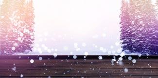 Составное изображение взгляда высокого угла деревянного настила Стоковые Фотографии RF