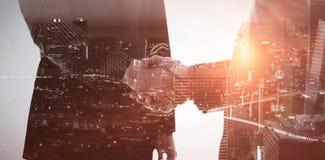 Составное изображение взгляда высокого угла загоренного городского пейзажа стоковая фотография