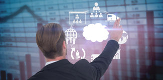 Составное изображение вид сзади бизнесмена указывая с его пальцами Стоковое Изображение RF