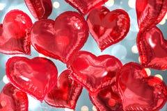 Составное изображение воздушных шаров сердца Стоковые Фото