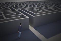 Составное изображение вскользь идти бизнесмена Стоковое Изображение