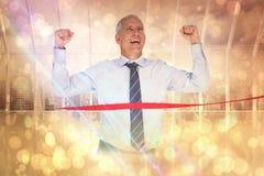 Составное изображение гонки бизнесмена выигрывая Стоковое Изображение