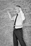 Составное изображение гонки бизнесмена выигрывая Стоковые Фотографии RF