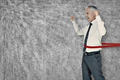 Составное изображение гонки бизнесмена выигрывая Стоковое Изображение RF