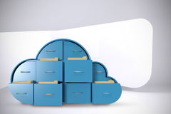 Составное изображение голубых ящиков в форме облака Стоковое Изображение RF