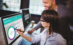 Составное изображение графического изображения вебсайта счета в банк стоковое фото rf