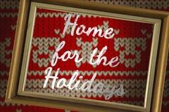 Составное изображение дома на праздники бесплатная иллюстрация
