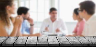 Составное изображение деревянного стола Стоковые Фотографии RF
