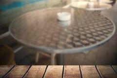 Составное изображение деревянного стола Стоковое Изображение RF